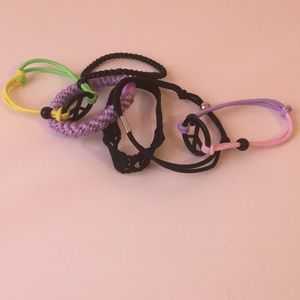 Accessories - Assorted, multicolored hair tie and bracelet set